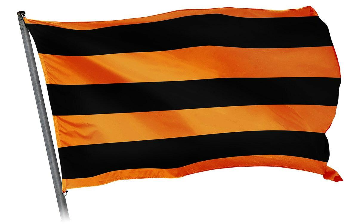 Флаг Георгиевская лента 90 х 135 см