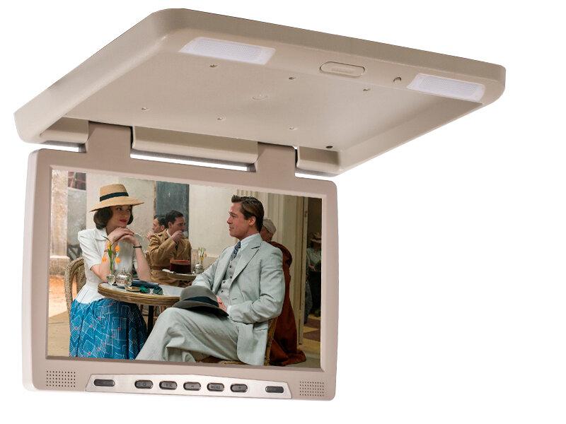 Потолочный монитор со встроенным медиаплеером AVS115 (бежевый)