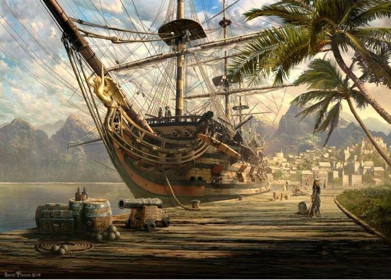 Пазл Schmidt Корабль на пристани 1000 шт.