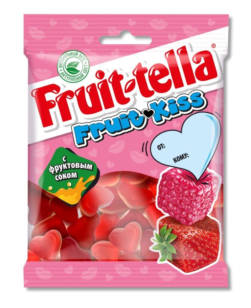 Жевательный мармелад Fruittella «Fruit kiss» 70 г
