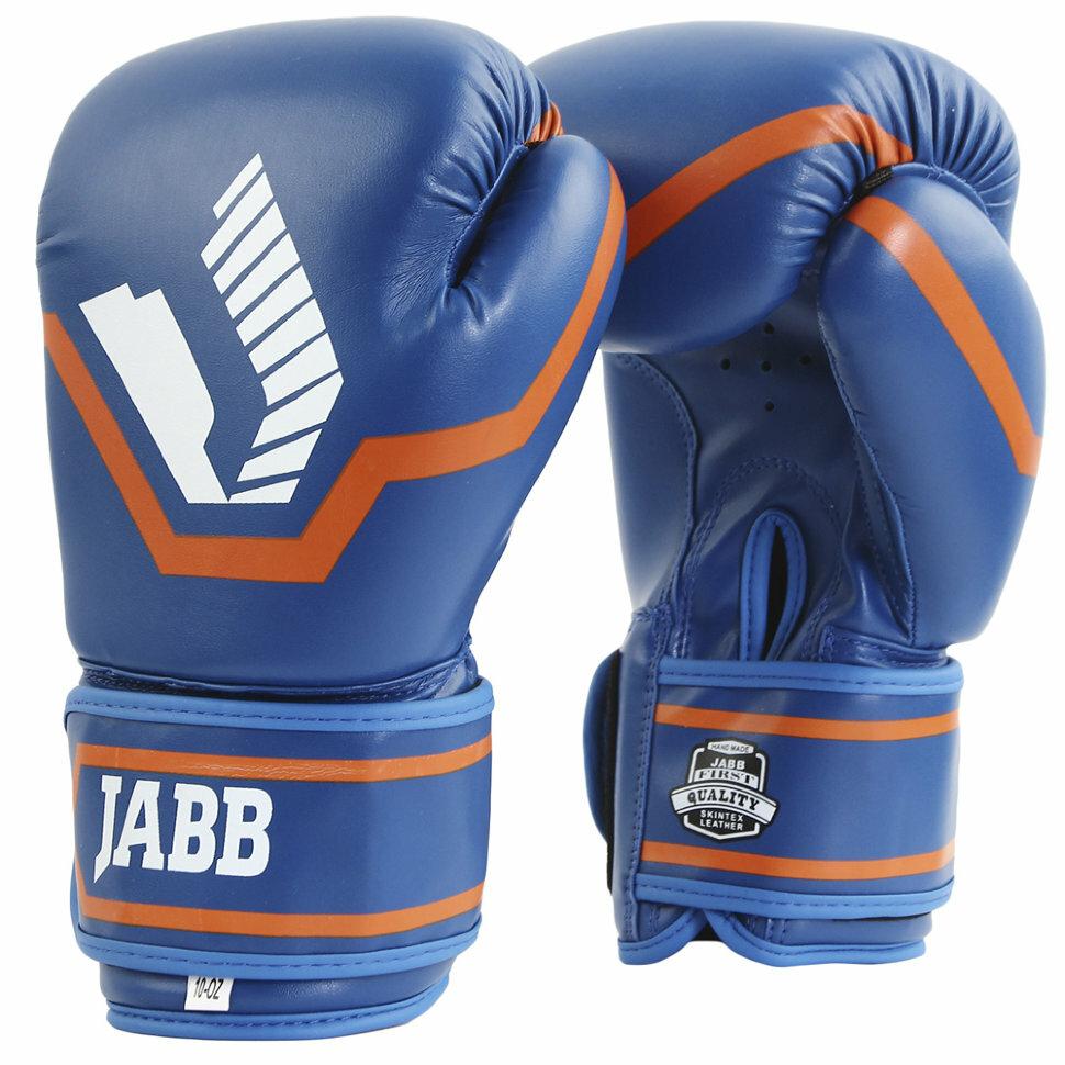 Перчатки бокс.(иск.кожа) Jabb JE-2015/Basic 25 синий 6ун.