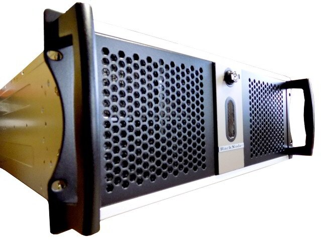 Промышленный безвентиляторный сервер RackNode 4U Xeon E-2100 19
