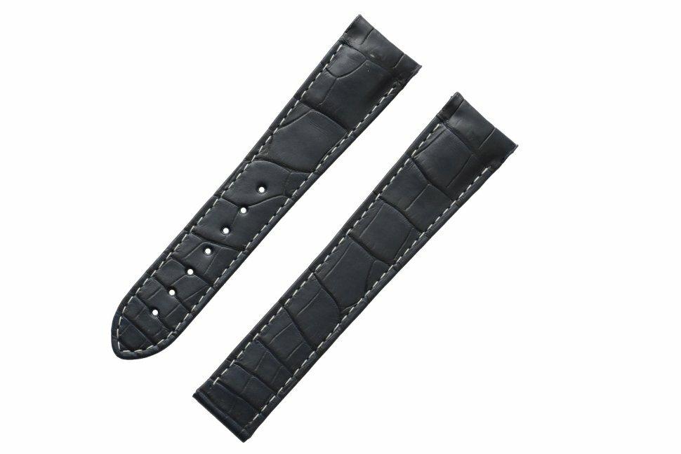 032CUZ005171 Ремешок синий, аллигатор, 21/18, для часов Omega Speedmaster Moonwatch