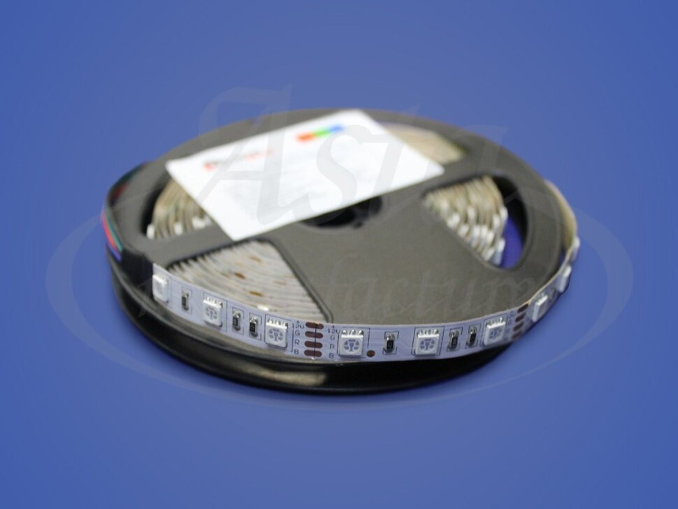 Светодиодная лента открытая SMD 5050 60LED/m IP33, 12 V, RGB