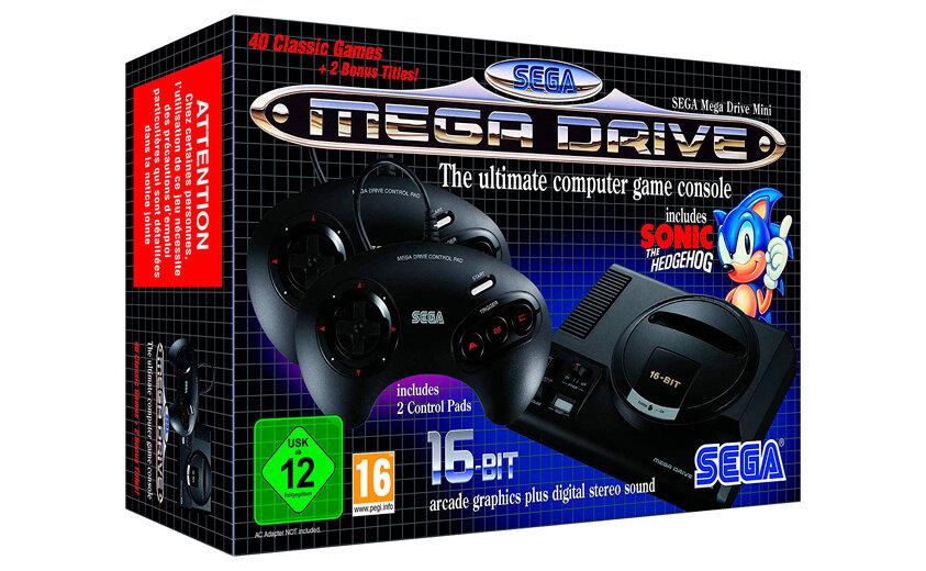 Игровая приставка SEGA Mega Drive Mini + 42 игры