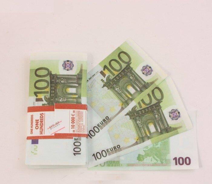 Пачка Купюр прикол 100 Евро