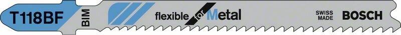 Пильное полотно T 118 BF Bosch Flexible for Metal (2608634586)