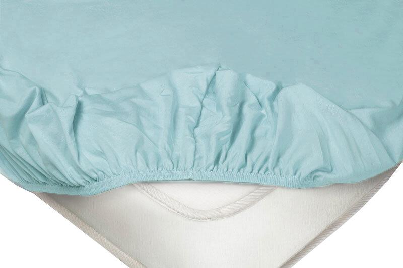 Простыня Ecotex Простыня на резинке трикотажная Синий ,1400 Х 2000 Х 200 мм