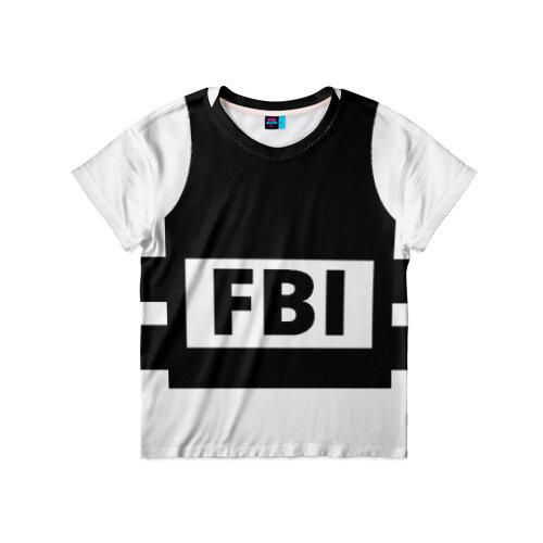 Детская футболка 3D Бронежилет ФБР (FBI) 86
