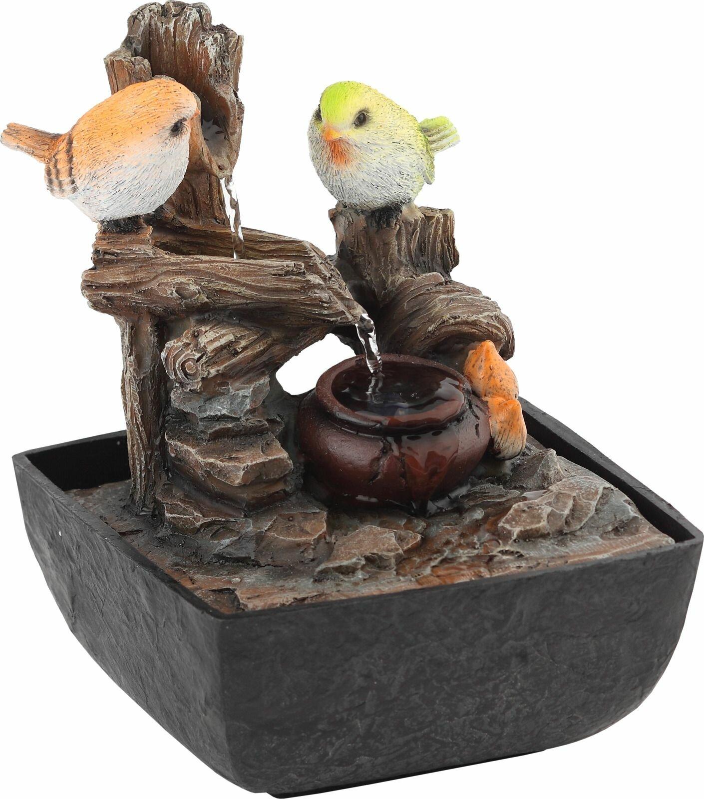 Домашний фонтан Green Apple Птички настольный, с подсветкой