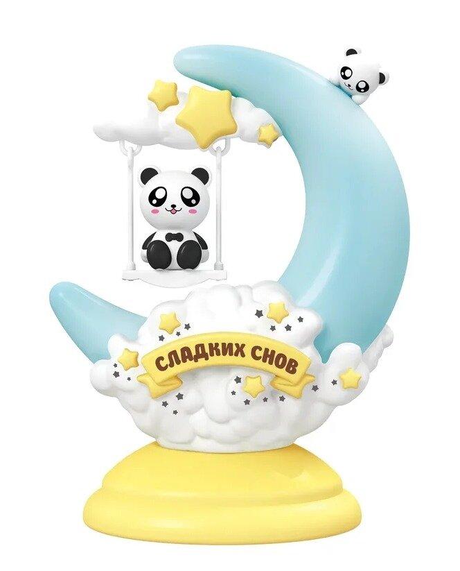 """Ночник """"Лючия LC300. Сладких снов, Панда"""" (цвет: голубой, желтый)"""