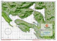 Карта Которского залива Адриатического моря побережья Черногории Gulf of Kotor 1:60000
