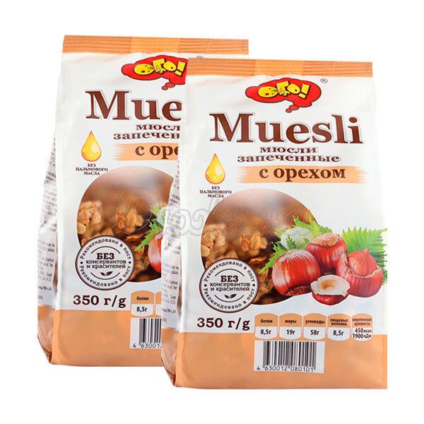 Мюсли ОГО! запеченные с орехами 350 г 2 шт