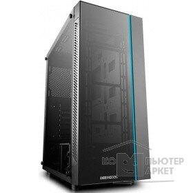Deepcool MATREXX 55 ATX, Black, LED strip front , Стекл. фронтальная и боковая панели, Без БП