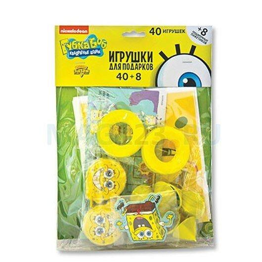 Миньон (Гадкий Я) Игрушки для подарков Губка Боб 40 шт+8 пакетиков