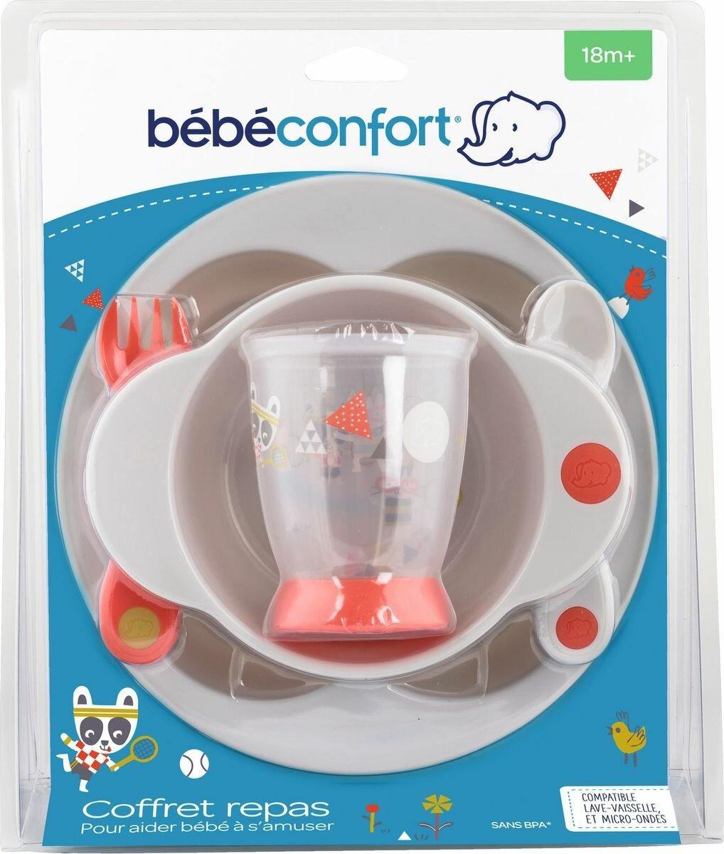 Набор посуды для кормления Bebe Confort Sport тарелка + миска + стаканчик + ложка + вилка, Полипропилен