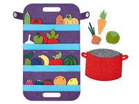 Сумка-игралка Овощи,фрукты и ягоды, Smile Decor, Ф272