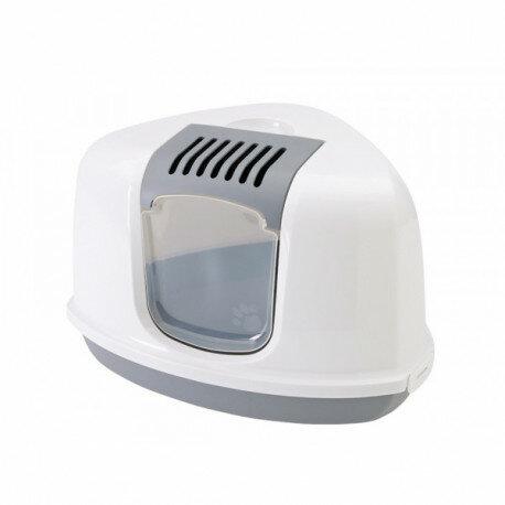 Туалет для кошек SAVIC Туалет для кошек NESTOR CORNER угловой белый/серый /4