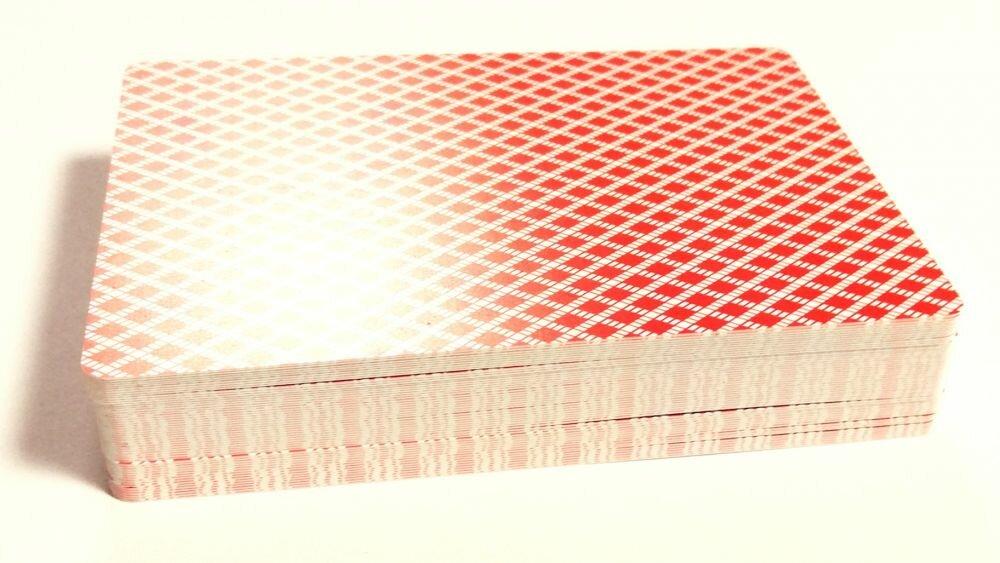 Карты для покера 888 пластиковые (Модификация: красная рубашка)