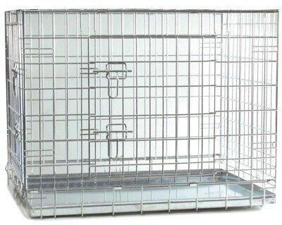 Клетка для собак, стальная, 63x55x61 см