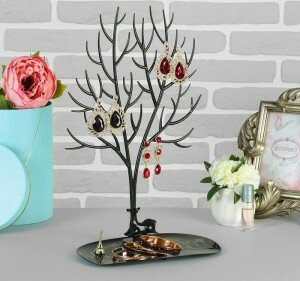 "Подставка для украшений ""Дерево"", черный, 25 х 15 х 41 см"