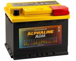 Автомобильный аккумулятор AlphaLINE AGM 60R 680А обратная полярность 60 Ач (242x175x190)