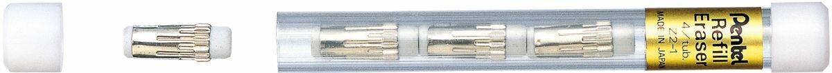 Pentel Ластик для автоматических карандашей цвет белый 4 шт