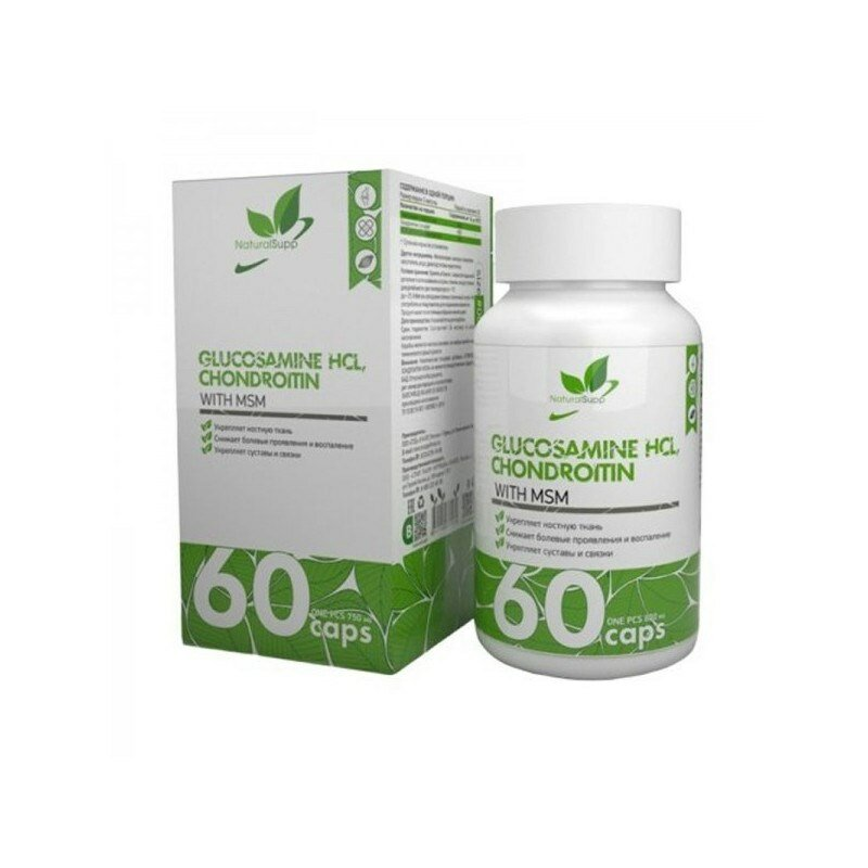 Natural Supp Glucosamine+Chondroitin+MSM (60капс) — цены на Яндекс.Маркете