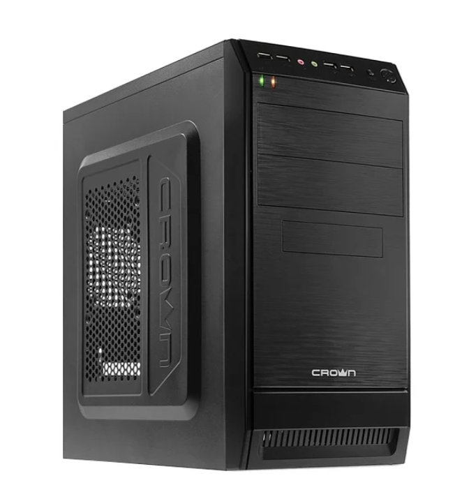 Компьютер ТоргПК Office 085719 (Intel Pentium G5400 3700МГц/Intel H310/16Гб DDR4 2666МГц/60Гб SSD/DVD-нет/Intel HD Graphics/CROWN CMC-400 450W Black/DOS)