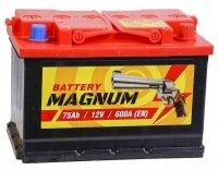 Аккумулятор автомобильный Magnum 75 А/ч 600 A обр. пол. Евро авто (278x175x190)