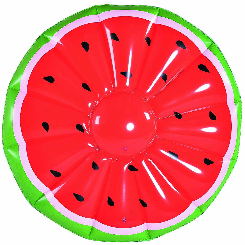 Матрас надувной Арбуз круглый 148 см Jilong 37495
