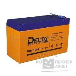 Delta DTM 1207 7 А ч, 12В свинцово- кислотный аккумулятор