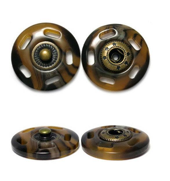 Кнопка пришивная, цвет: бронза, 21 мм, 10 штук, арт. ГДЖ1546 (количество товаров в комплекте: 10)