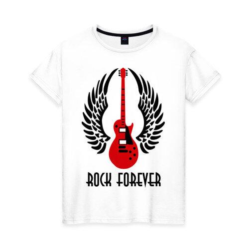 Женская футболка хлопок Rock forever (Рок навсегда) XXS