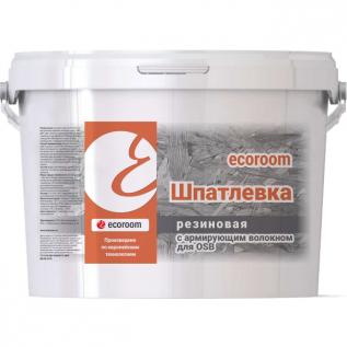 Шпатлевка резиновая с армирующими волокнами ECOROOM для OSB 15кг