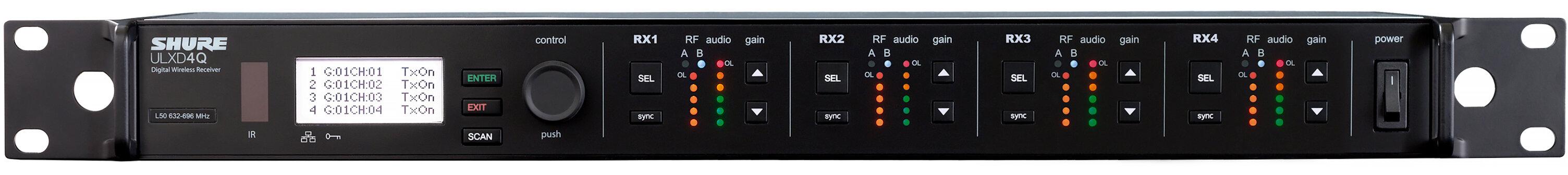 Приемники и передатчики Shure ULXD4QE G51 серии ULXD, частоты 470-534 MHz