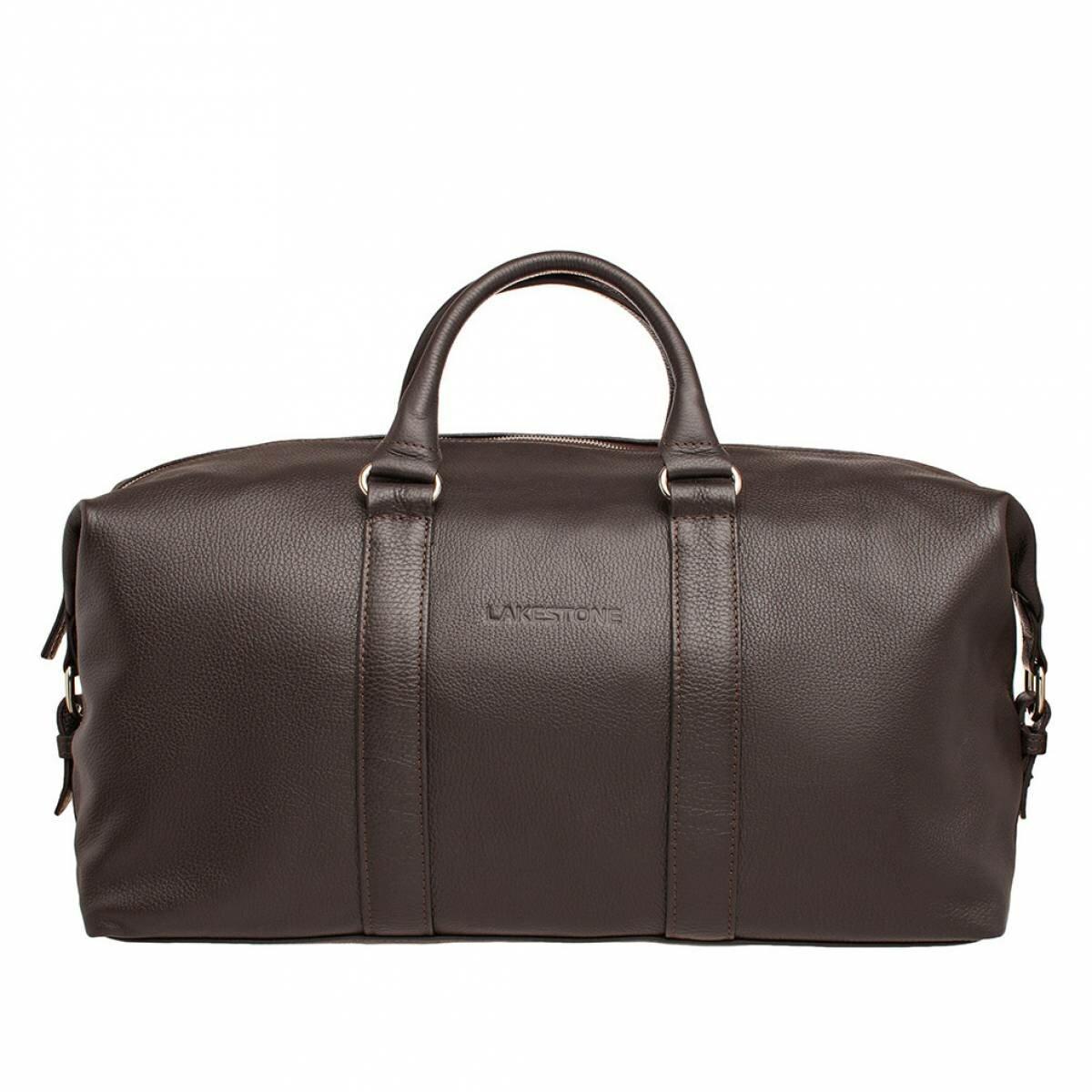 Дорожно-спортивная сумка Pinecroft Brown мужская кожаная коричневая