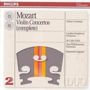 """Grumiaux, Arthur """"Mozart: Violin Concertos Nos. 1/5 etc."""""""