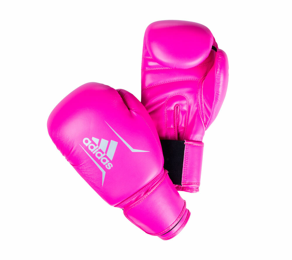 Перчатки боксерские Speed 50 розово-серебристые (вес 12 унций)