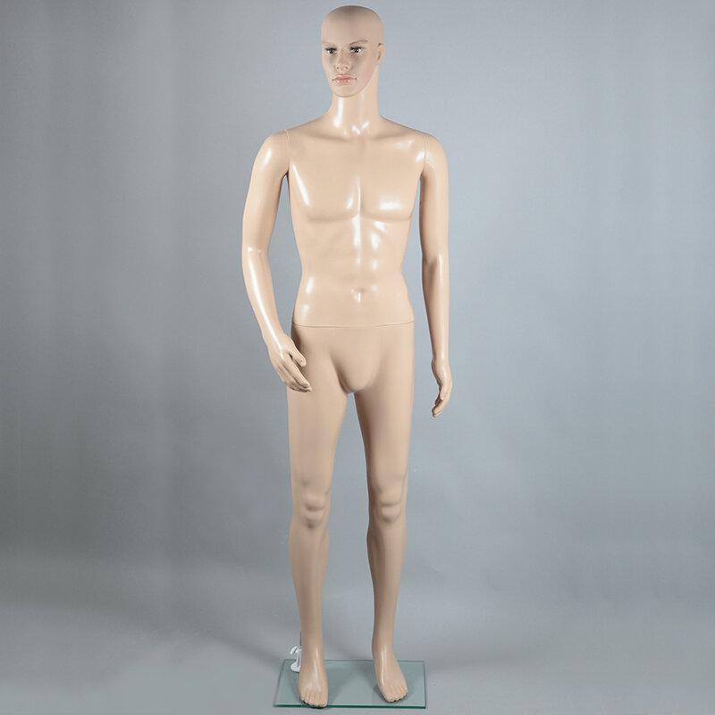 Манекен мужской ростовой, телесный с макияжем XSL-3
