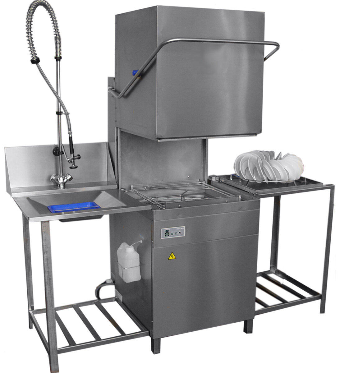 Купольная посудомоечная машина Гродторгмаш МПУ-700М со столами