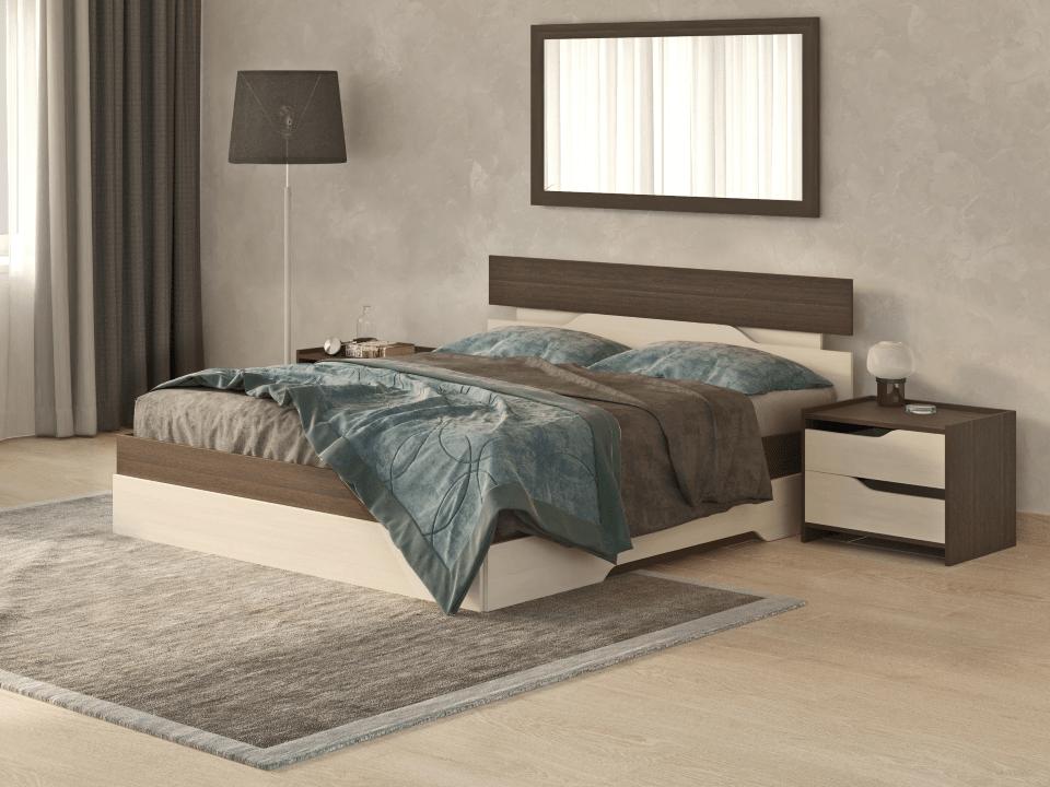 Кровать Орматек/Орма Мебель Milton (ЛДСП Дуб Венге + Дуб Шамони) 120x190