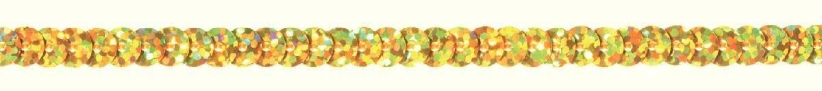 """Тесьма """"Prym"""", с пайетками, цвет: золотистый, 6 мм, 3 м"""