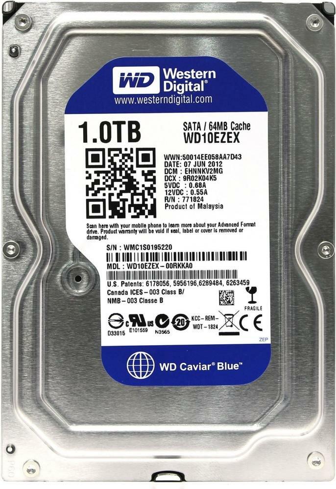 """Внутренний HDD WD Blue 1TB 3.5"""""""