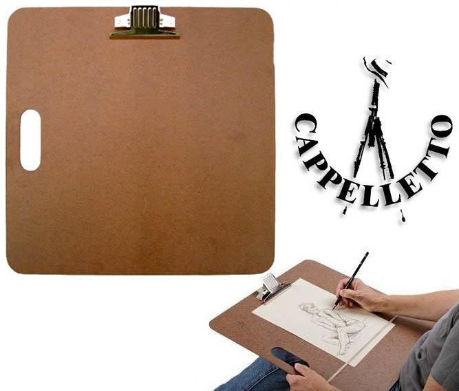 Планшеты Cappelletto Планшет для пленэра ДВП 45х45см с ручкой и зажимом