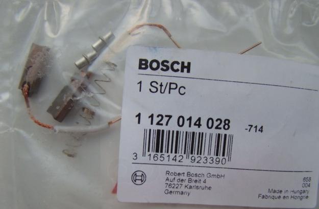 Комплект щеток стартера/генератора (компл.2шт) bmw/audi/vw/opel/mercedes/saab/volvo/fiat/citroen Bosch арт. 1127014028