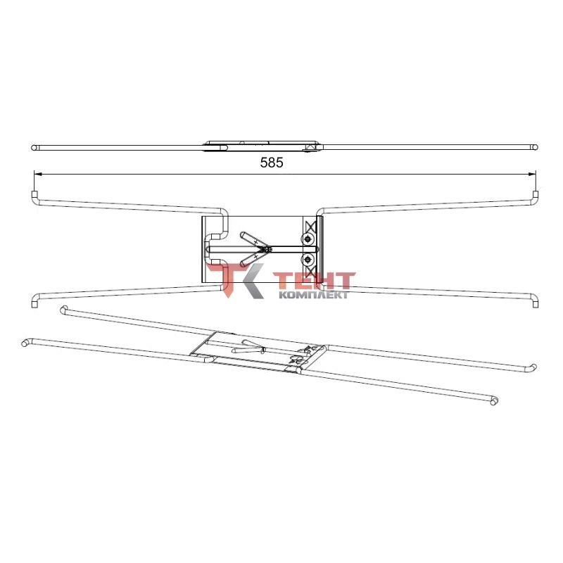 Шарнир подъёмный для сдвижной крыши 585 mm