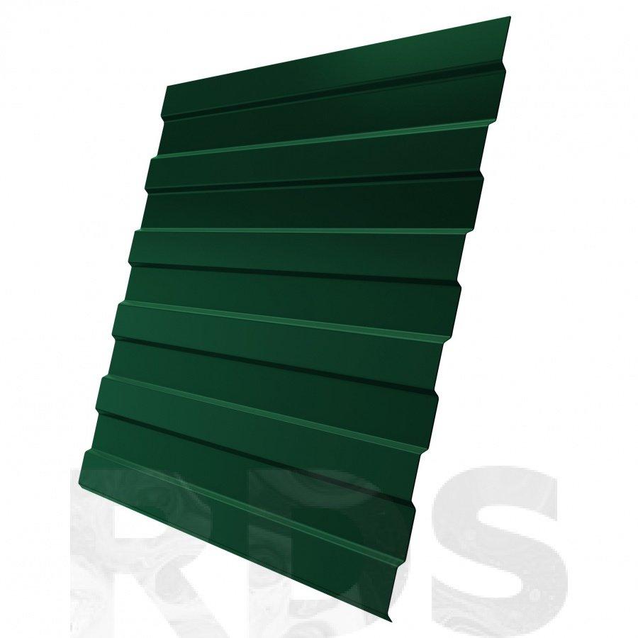 Профнастил С-8х1200мм (1160мм) L -2000мм (2,4м2) ПЭ, 0,4мм, RAL 6005 зеленый
