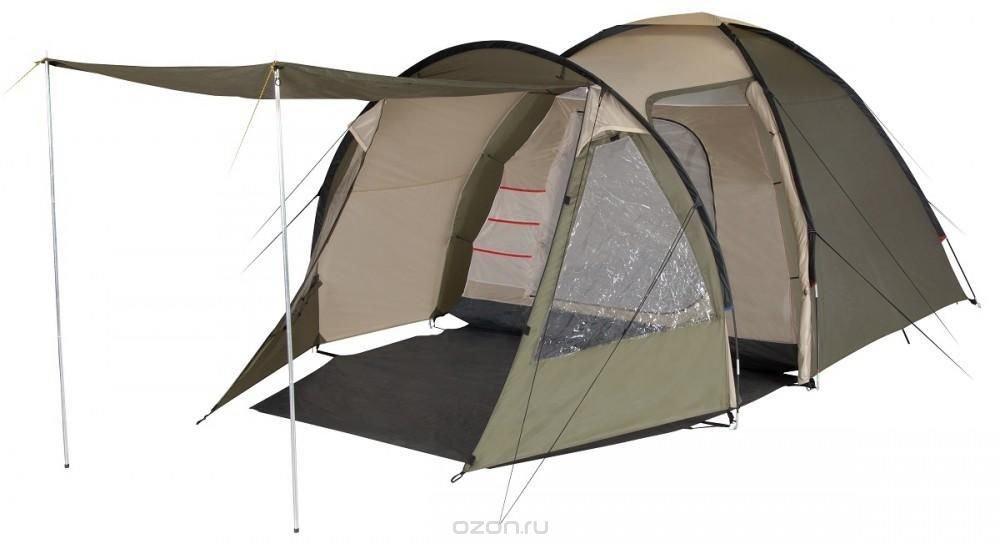 """Палатка четырехместная TREK PLANET """"Atlanta Air """"4, цвет: светло-коричневый, хаки"""