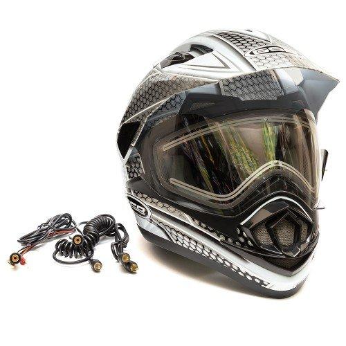 Шлем снегоходный GSB XP-14 A SNOW с эл. визором, S, Черный / Белый